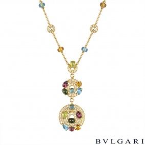 Bvlgari Yellow Gold Diamond & Multi-Gem Astrale Pendant